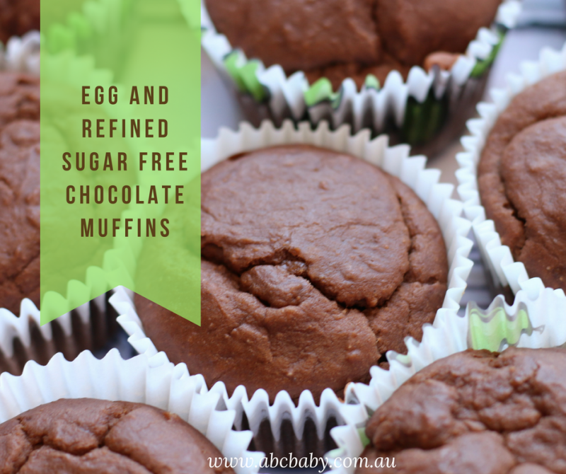 Egg And Refined Sugar Free Chocolate Muffins