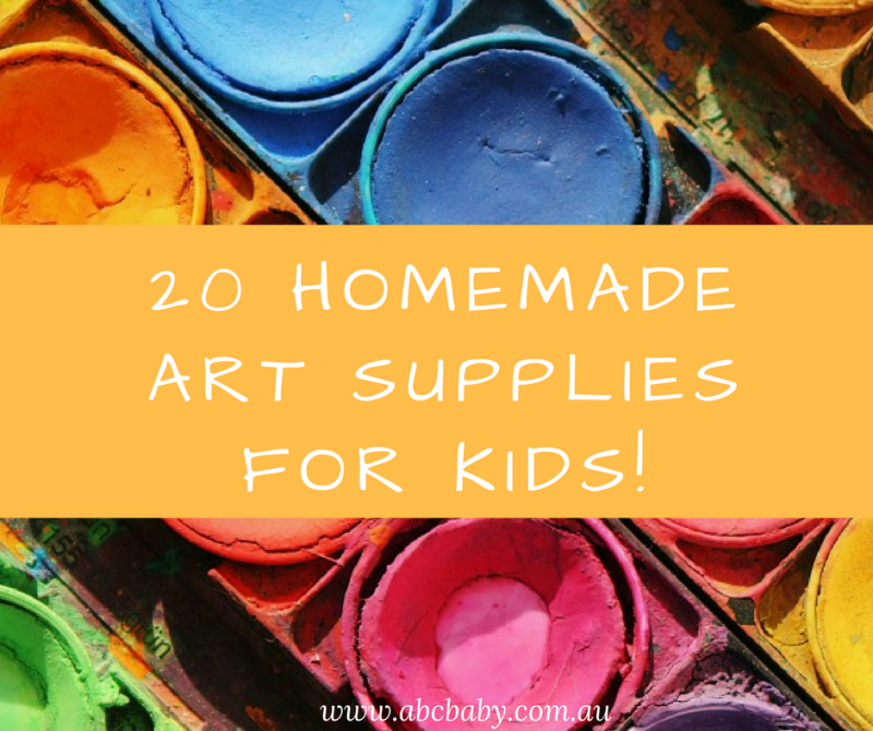 20 Homemade Art Supplies For Kids!