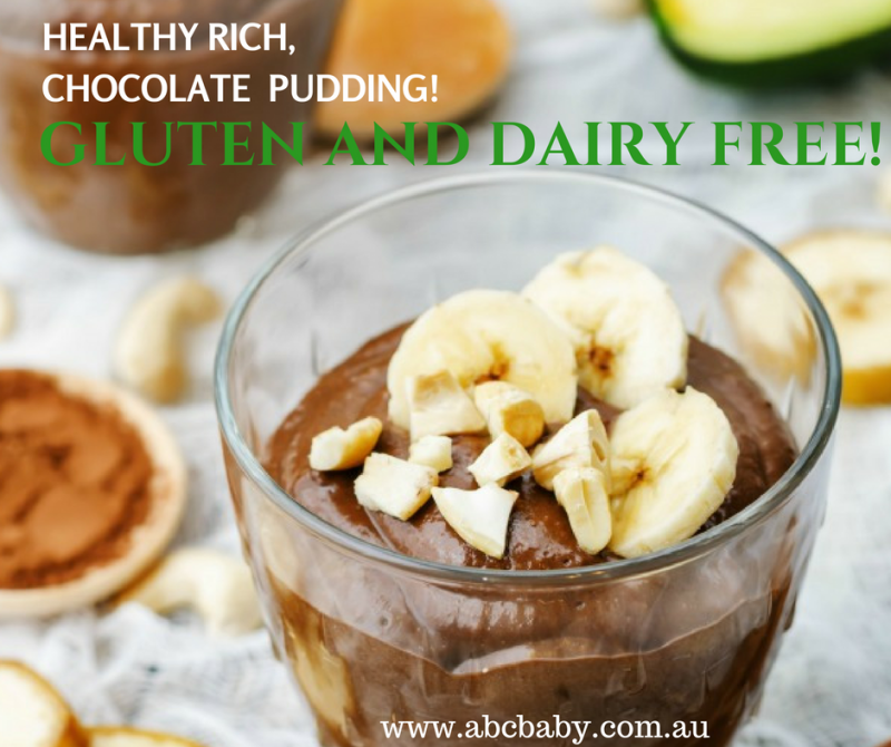 Healthy Rich Chocolate Pudding - Gluten and Dairy Free!
