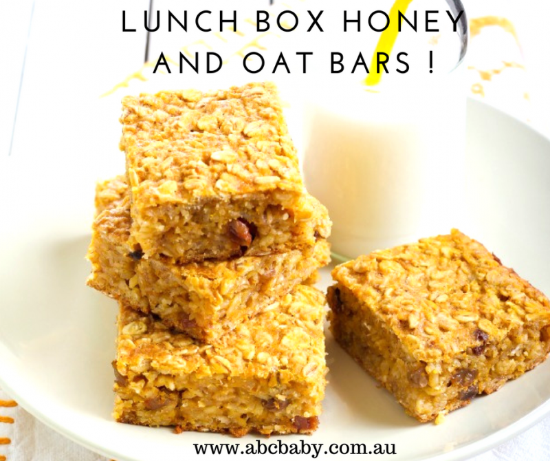 Lunch Box Honey And Oat Bars