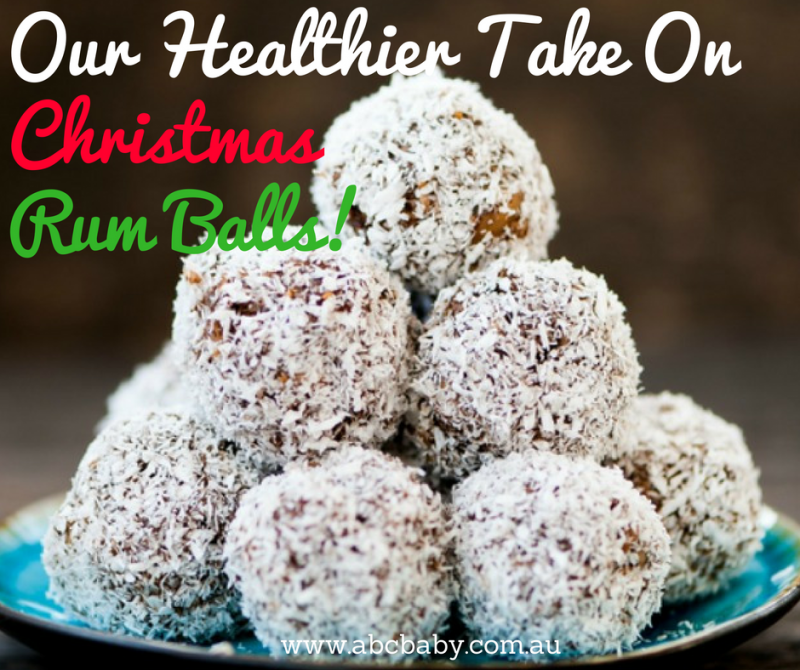 Our Healthier Take On Christmas Rum Balls!