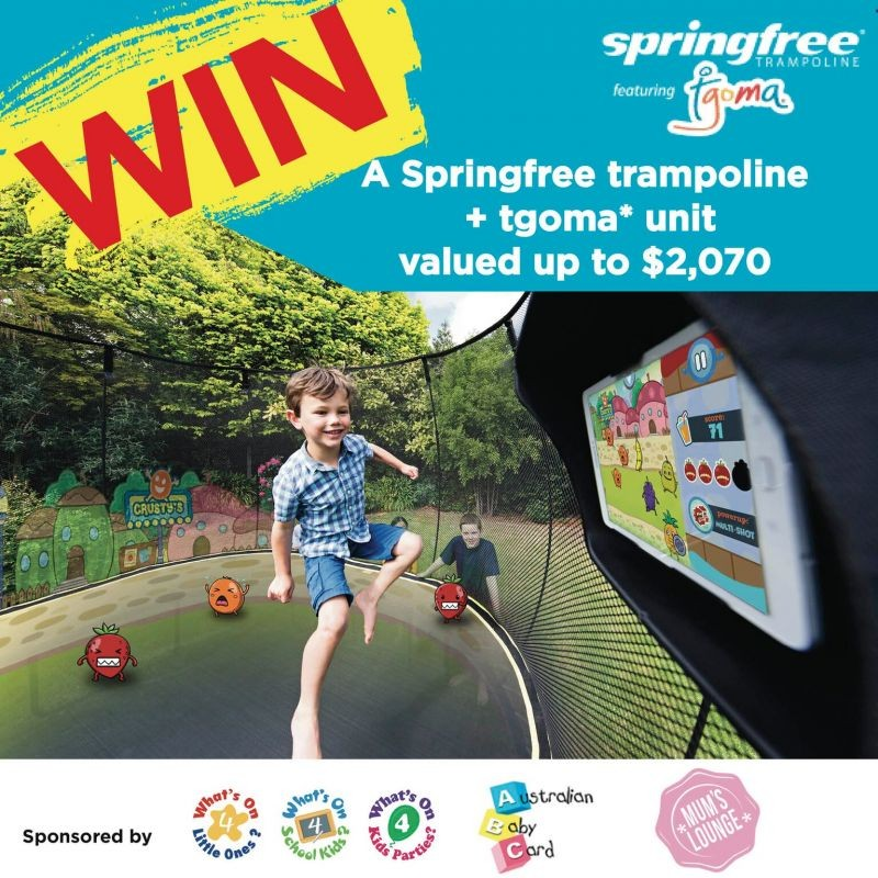 Springfree Trampoline and Tgoma Giveaway