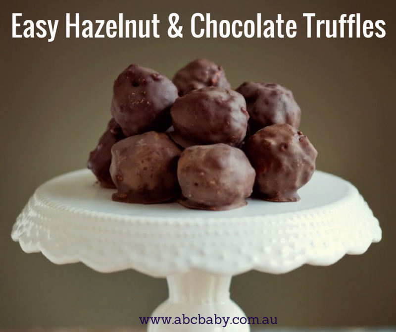 Easy Hazelnut & Chocolate Truffles