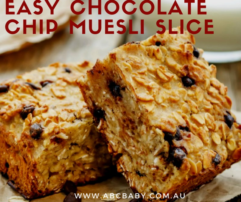 Easy Chocolate Chip Muesli Slice