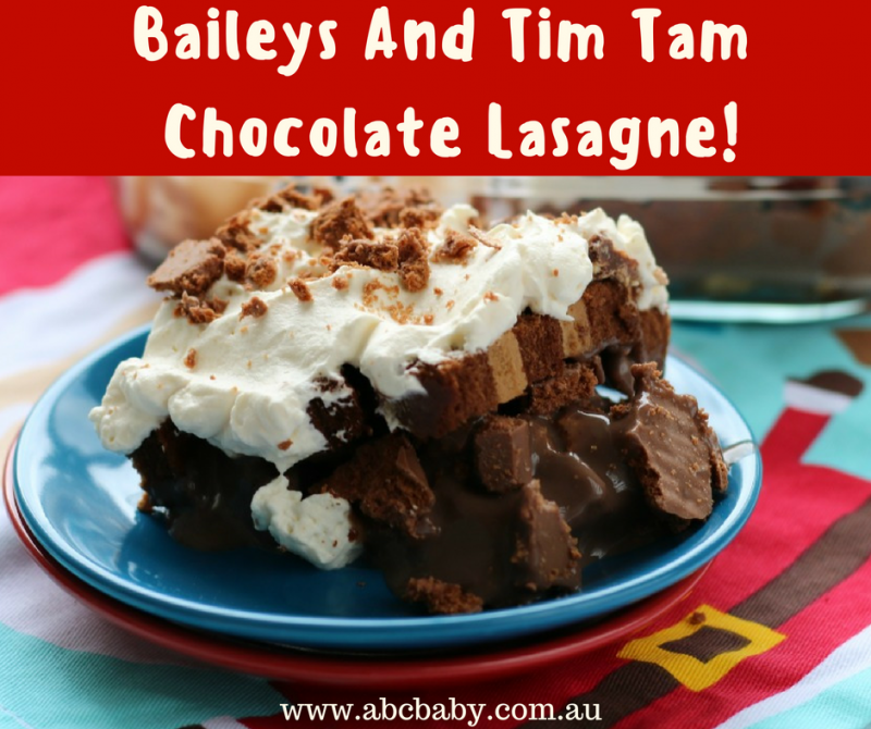 Baileys And Tim Tam Chocolate Lasagne!