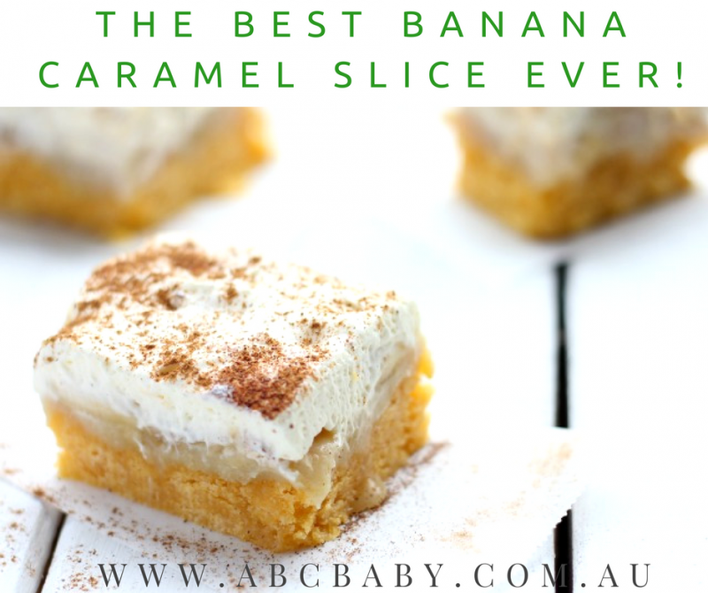 The Best Banana Caramel Slice Ever!