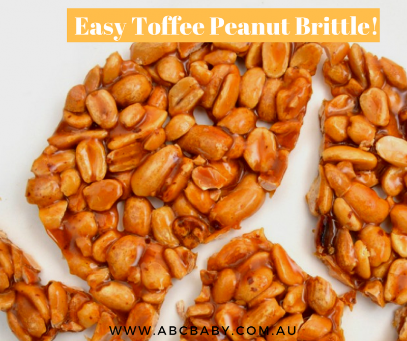 Easy Toffee Peanut Brittle!
