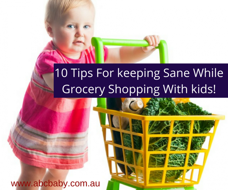 10 Tips For keeping Sane While Grocery Shopping With kids