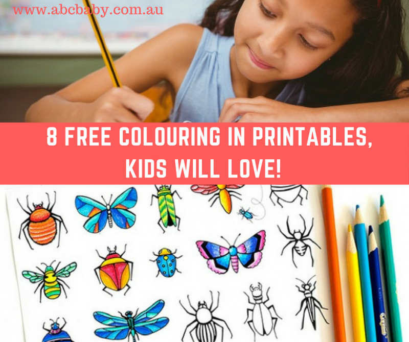 8 Free Colouring In Printables, Kids Will Love!