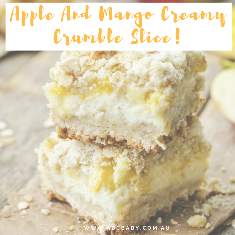 Apple And Mango Creamy Crumble Slice!