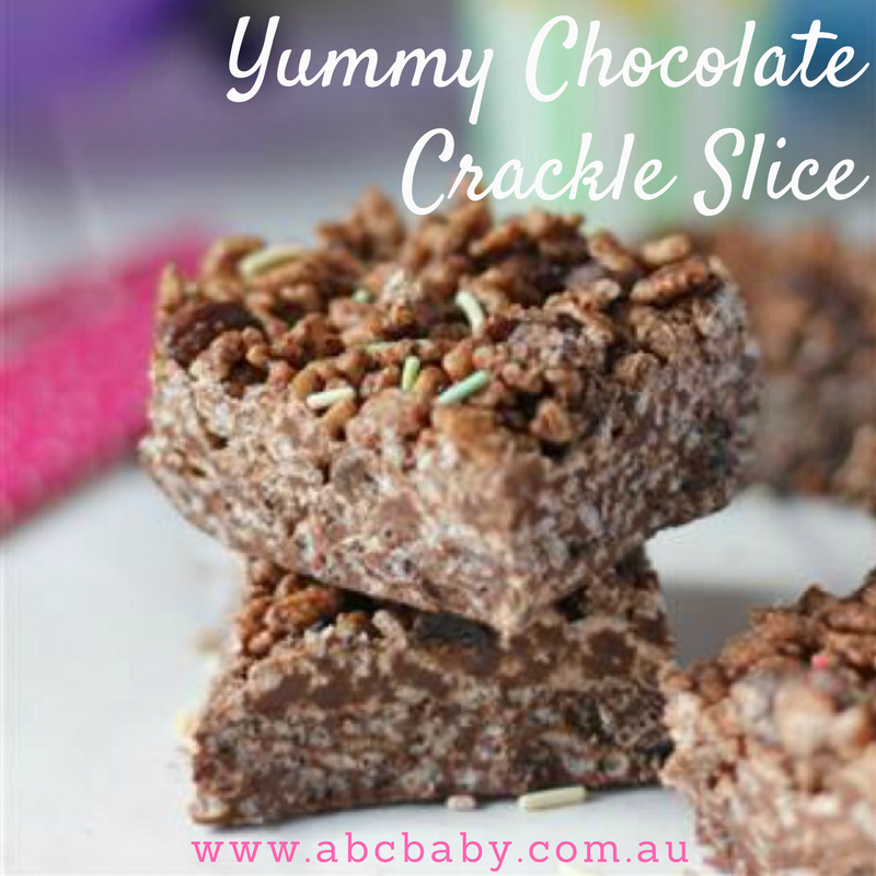 Easy Chocolate Crackle Slice