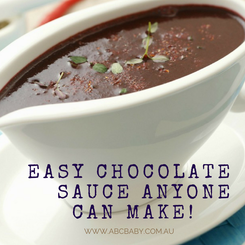 Easy Chocolate Sauce Anyone Can Make!