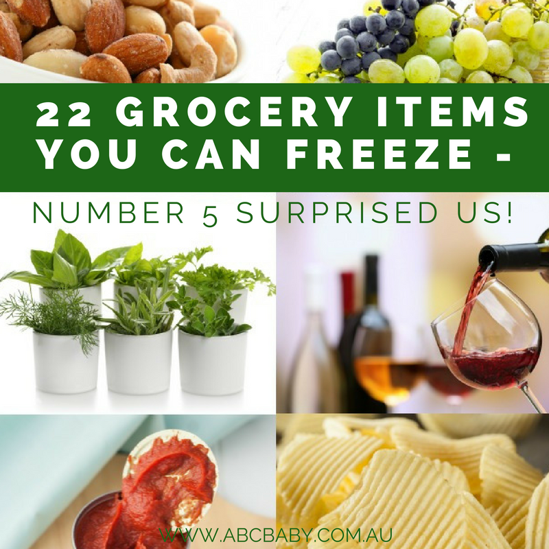 22 Grocery Items You Can Freeze - Number 5 Surprised us!