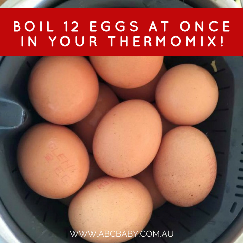 Here's your protein snacks for the week. - Boil 12 Eggs At Once In Your Thermomix!