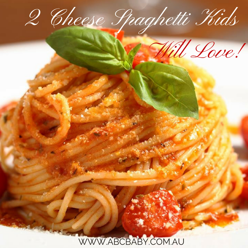 2 Cheese Spaghetti Kids Will Love!
