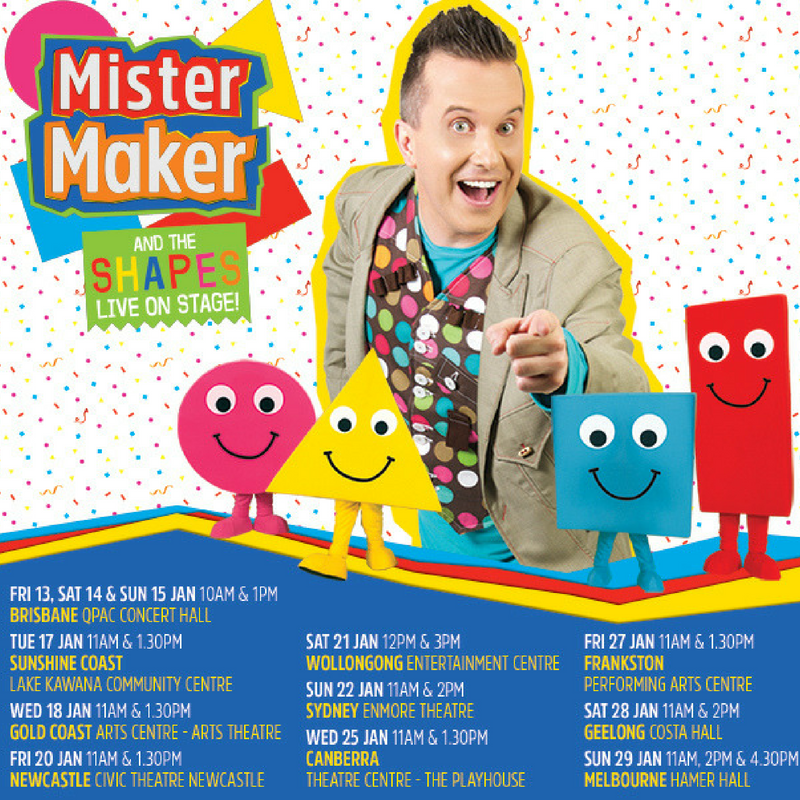 Get Ready Australia! Mister Maker Is Coming His Brilliant, Fun And Interactive Live Show.