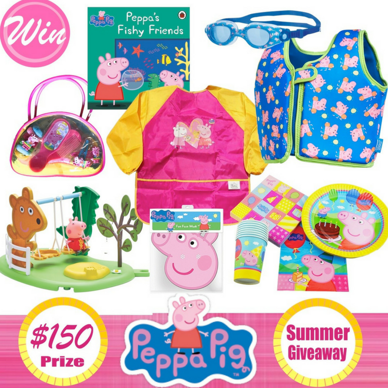 Win a Peppa Pig Summer Party Prize Pack Worth $150