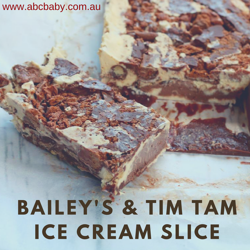 Baileys & Tim Tam Ice cream Slice
