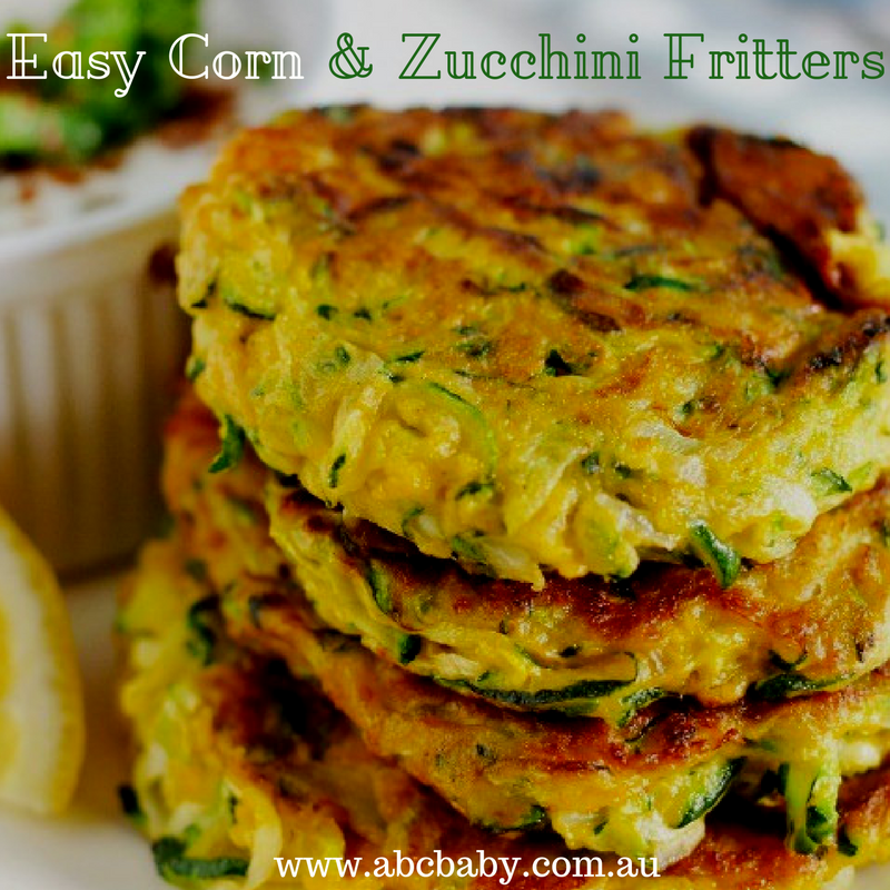 Easy Corn & Zucchini Fritters!
