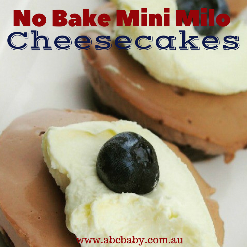 No Bake Mini Milo Cheesecakes