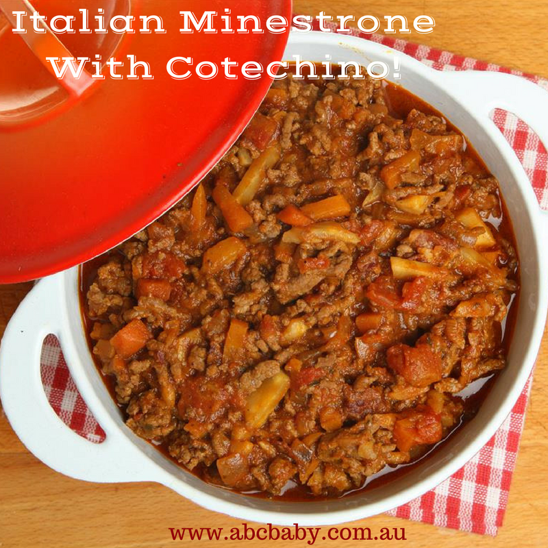 Italian Minestrone With Cotechino!