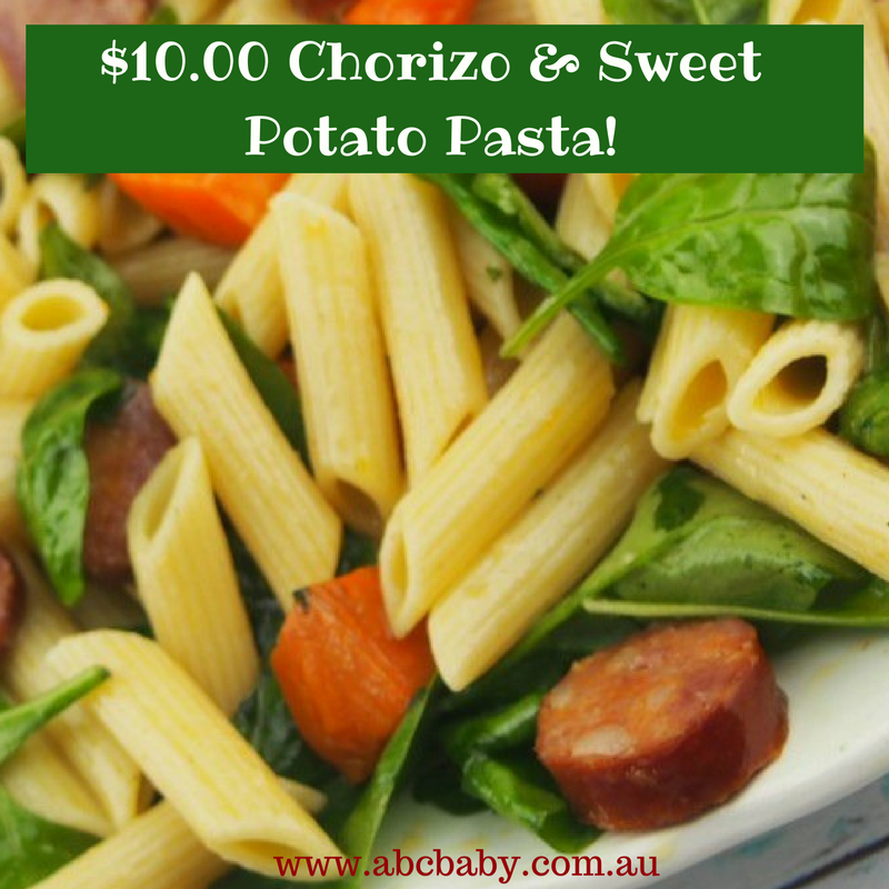$10.00 Chorizo & Sweet Potato Pasta!