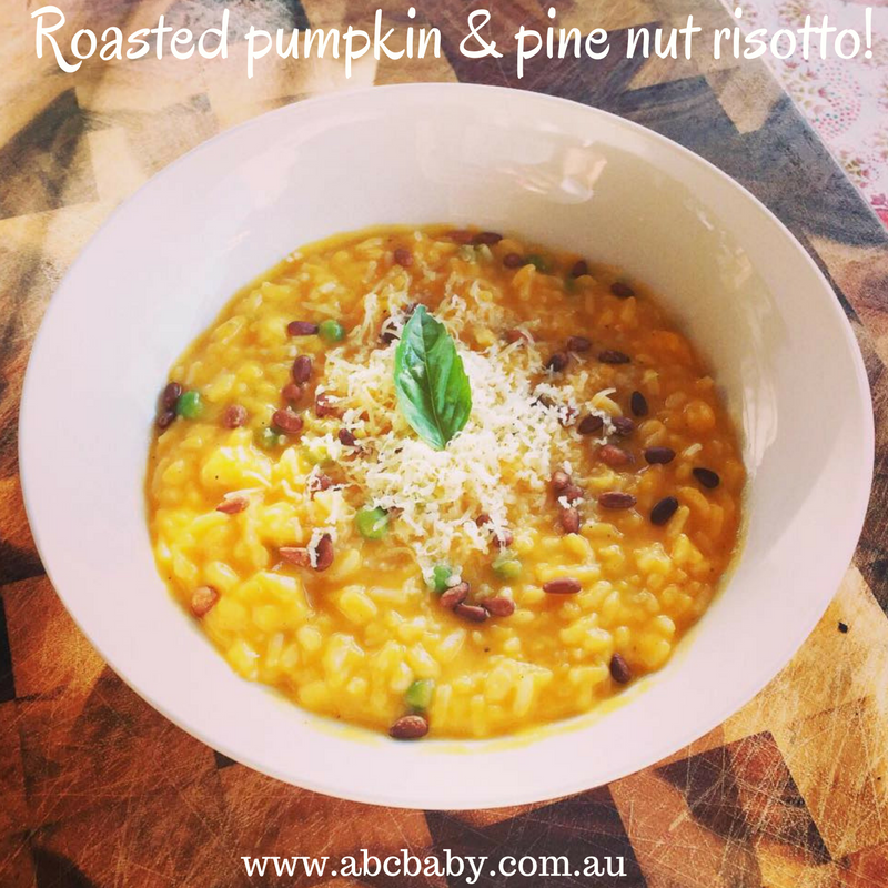 Easy Roasted Pumpkin & Pine Nut Risotto!
