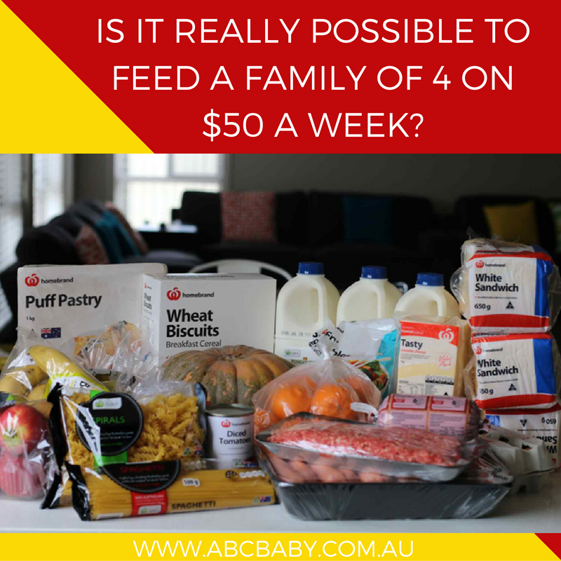 Is it really possible to feed a family of 4 on $50 a week?