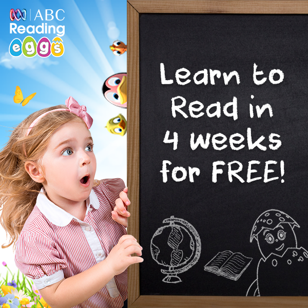 Give your child a head start in school with ABC Reading Eggs!