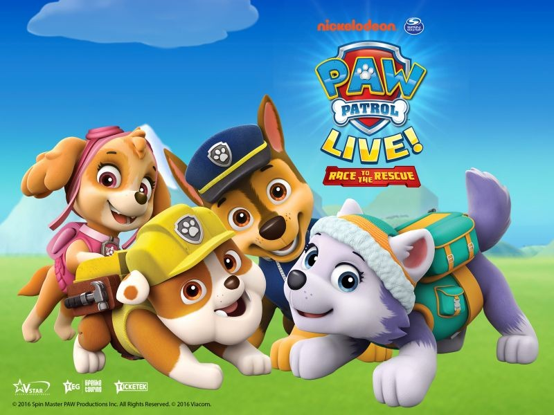 PAW PATROL LIVE! RACE TO THE RESCUE NATIONAL TOUR DATES