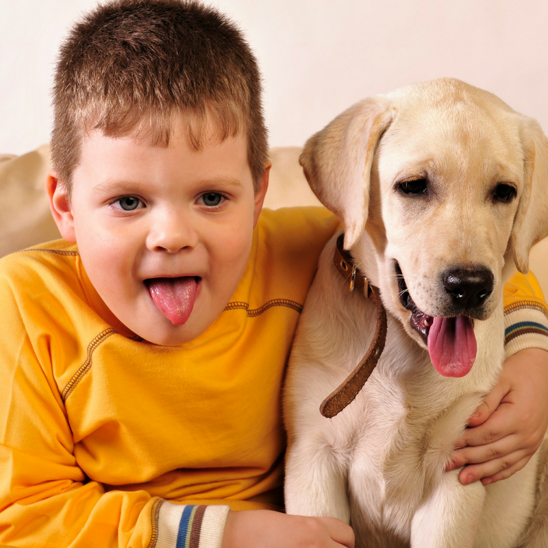 Health benefits of having a childhood pet!