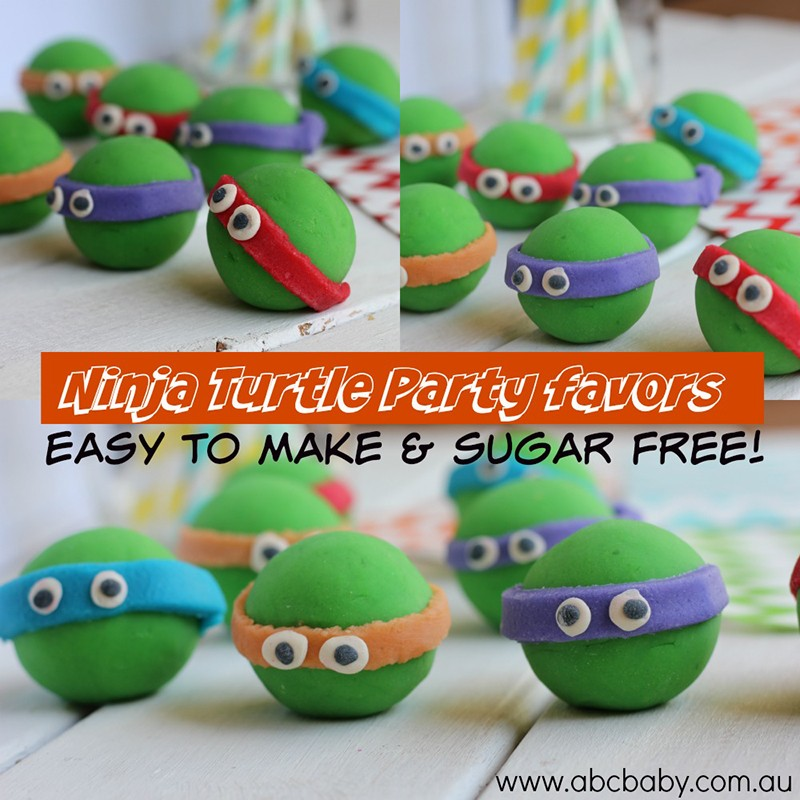 Ninja Turtles Sugar Free Party Favors!