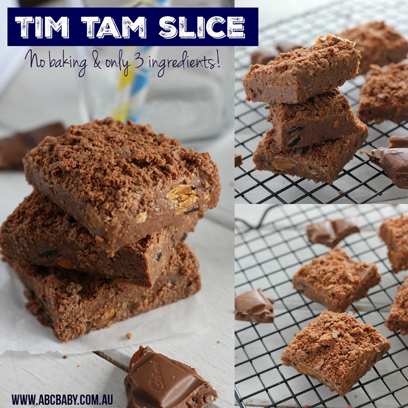 No Bake 3 Ingredient Tim Tam Slice