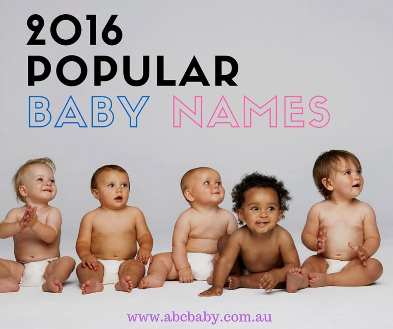 2016 Most Popular Baby names