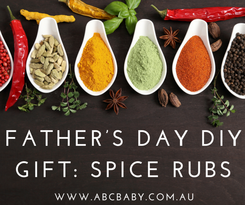 Father's Day DIY Gift: Spice Rubs