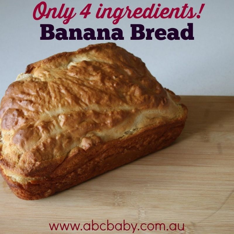 4 Ingredient Banana bread