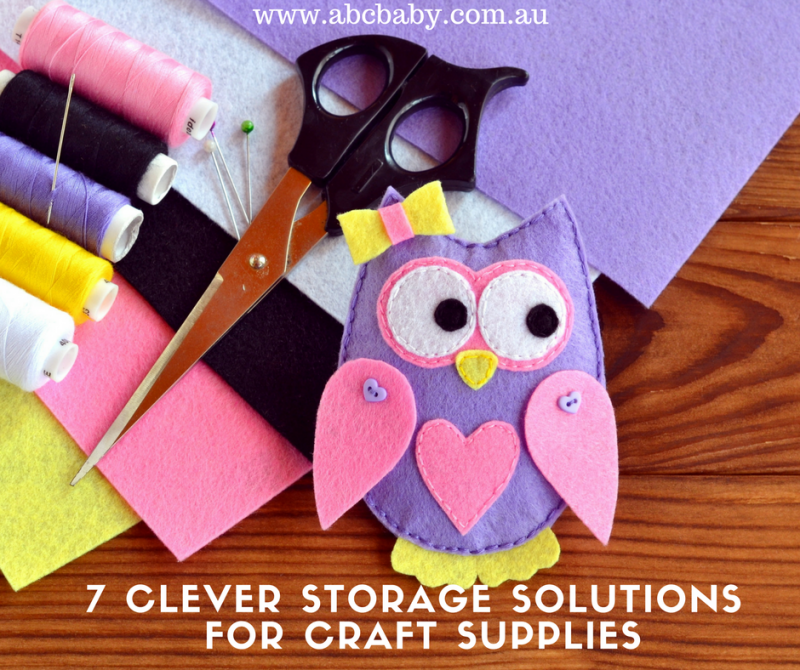 7 Clever Storage Solutions For Craft Supplies