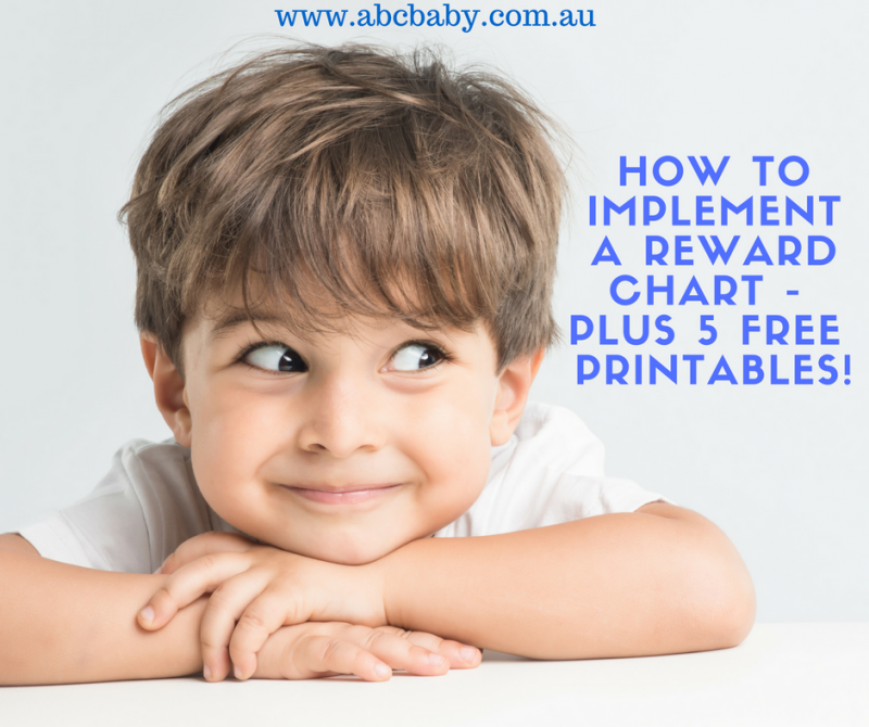 How To Implement A Reward Chart - 5 free reward chart printables