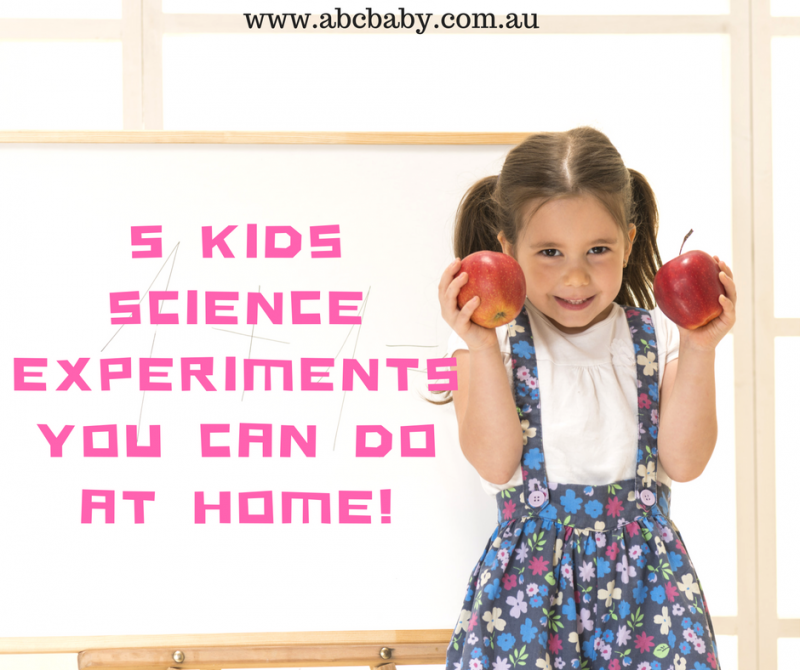 5 KIDS SCIENCE EXPERIMENTS YOU CAN DO AT HOME!